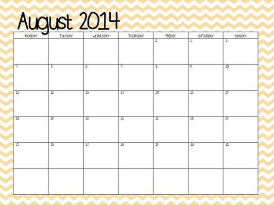 chevron august 2013 calendar - photo #4