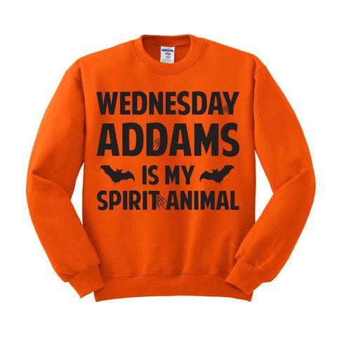 Wednesday Addams is my Spirit Animal Crewneck Sweatshirt – TeesAndTankYou