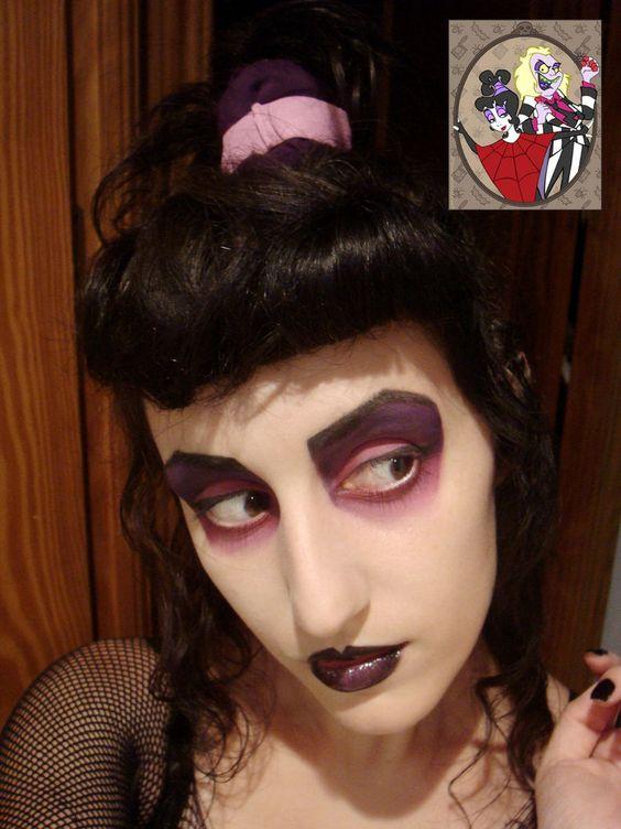 """Lydia Deetz from """"Beetlejuice"""" cartoon makeup"""