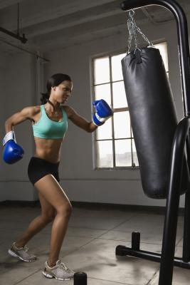 Heavy Bag Workout! I find nothing makes a faster change to my shape then a heavy bag workouts. Not only can jabbing and kicking a punching bag give you an immensely powerful take-no-prisoners feeling, it can also help with weight loss. Working with a punching bag boosts coordination, sharpens reflexes and improves flexibility while strengthening your arm, back, core, shoulder and leg muscles.