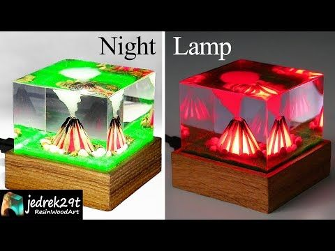 Fire Campfire Diorama Night Lamp Art Resin Youtube Night