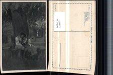 321897,Künstler AK A. Ribano Liebesrausch Liebespaar Tracht