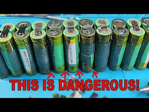 Wanna Make 18650 Battery Packs Watch This First Youtube Battery Pack 18650 Battery Battery