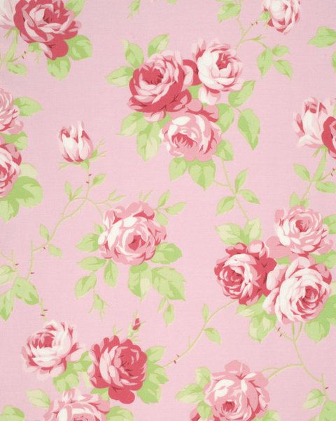 Rosenstoff Lulu Roses, Lulu pink, Shabby Rosen   von Rosenstoffe Shop auf DaWanda.com