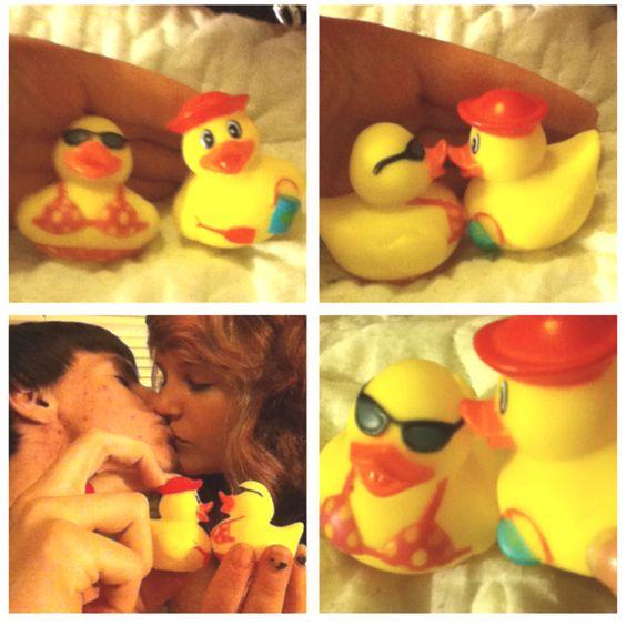Beach time ducky love