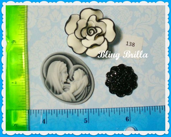 Cabochon Set Grab Bag Mix  138 by BlingBrilla on Etsy, $2.25