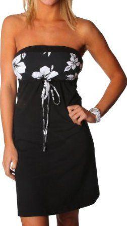 Alki'i Missy Hibiscus Tube Summer Beach Sun Dress - Maui Print: Clothing