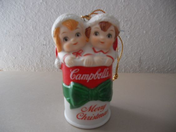 CAMPBELL'S SOUP CHRISTMAS ORNAMENT KIDS IN A SOUP CAN