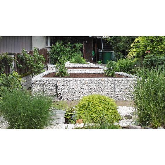 Gabionen Hochbeet Hohe 45cm Wandtiefe 10cm Garden Pinterest