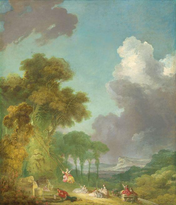 "Jean-Honoré Fragonard, ""The Swing,"" c. 1775/1780, oil on canvas, National Gallery of Art, Washington, Samuel H. Kress Collection"
