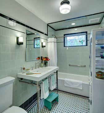 Vintage apothecary bathroom - craftsman - Bathroom - New York - Tracey Stephens Interior Design Inc