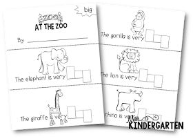 Miss Kindergarten: Stamping Sight Word Booklets…again ;)