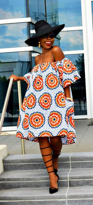 African clothing, African fabric, Ankara Dress, African print dress, African… More: