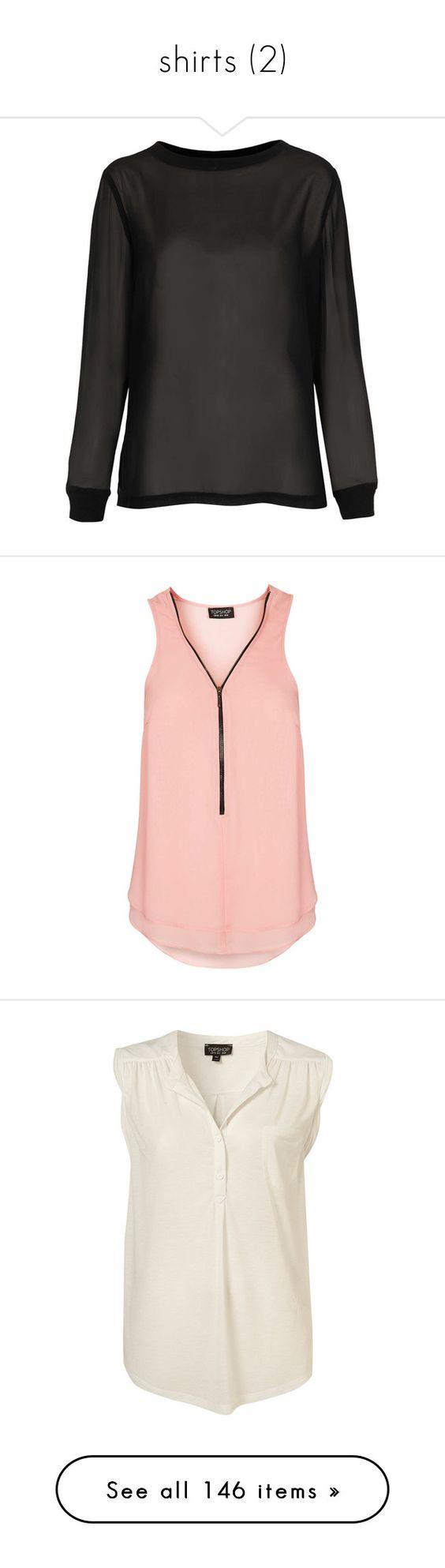 """shirts (2)"" by kateremington-1 ❤ liked on Polyvore featuring tops, hoodies, sweatshirts, shirts, sweaters, jumpers, black, chiffon shirt, woven shirts and long sleeve woven shirt"