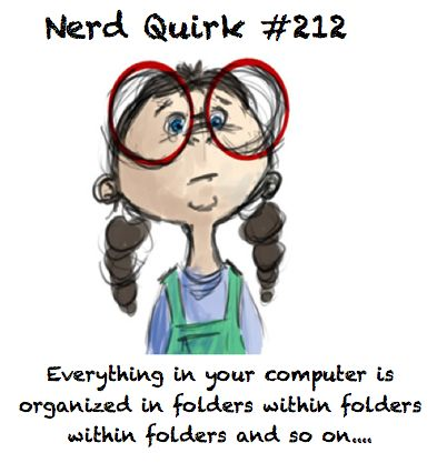 Yes. I have folders for everything. Just try and find something!
