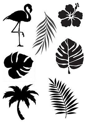 Tropical Leaf Stencil A4//A5