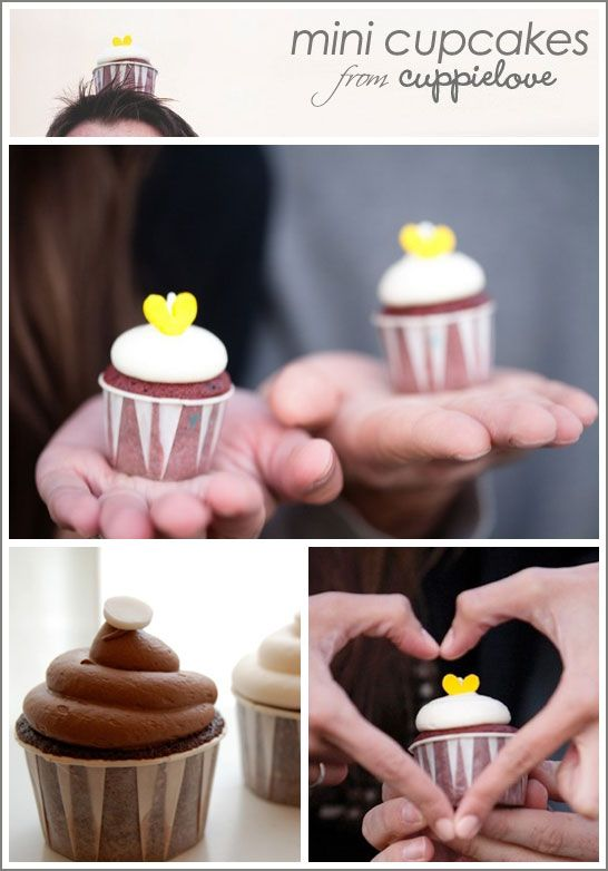 use those little ketchup cups for mini cupcakes! clever