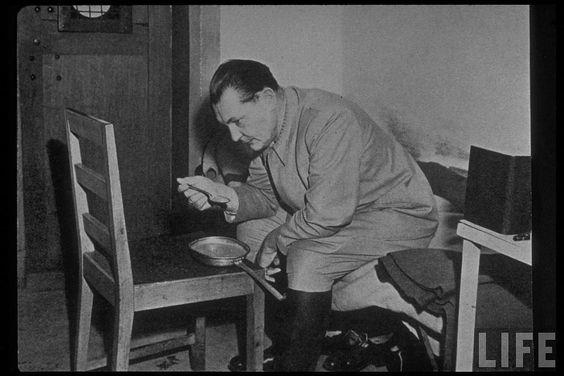 Göring, en una prisión de Nürember, en octubre de 1946, durante el juicio contra los jerarcas nazis..