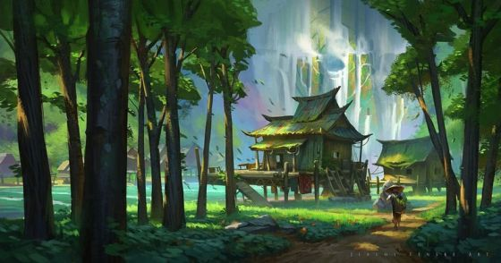 Jeremy Fenske Graphic Design Print On Paper On Canvas On Wood Or On Steel Sheet Fantasy Art Landscapes Environment Concept Art Environment Painting