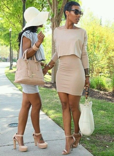 Dress  Gorgeous women White bags and Skirts
