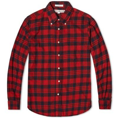 Individualized Shirts Check Flannel Shirt (Red)