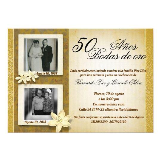 50 Anos De Casados 50 Anos De Casados Invitaciones Bodas De Oro
