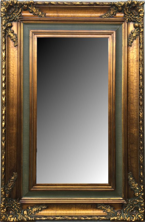 Espejo biselado estilo cl sico con marco en madera modelo for Espejo pared precio