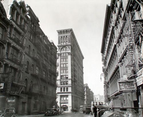 New York: Broadway near Broome Street, Manhattan. 1935. Photo...