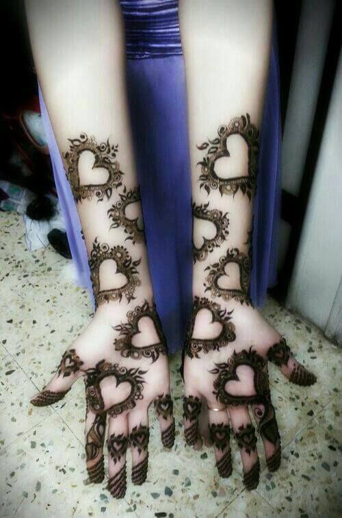 fancy simple arabic mehndi designs for left hand