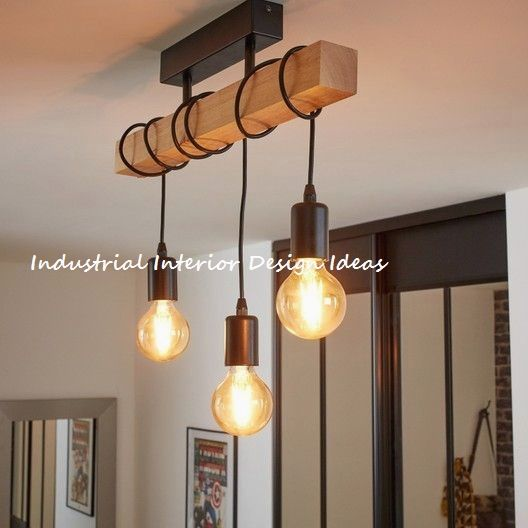 Diy New Industrial Interior Design Ideas Interiordesign Interior Industrial Ceiling Lights Ceiling Lamps Living Room Home Lighting