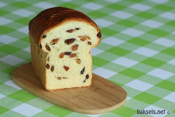 Rozijnenbrood: http://www.baksels.net/site/rozijnenbrood/ #recept