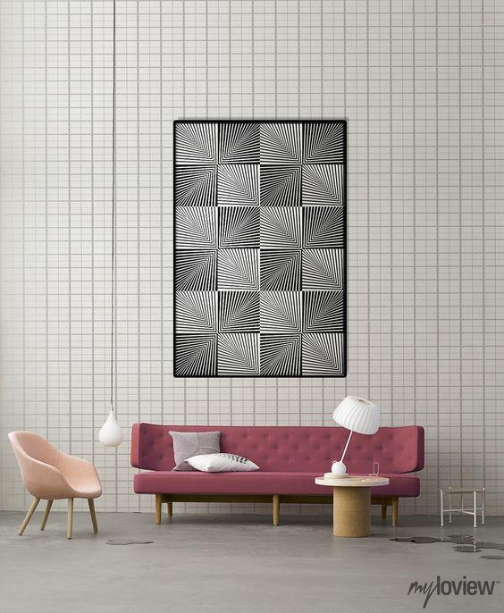 Intriguing optical art wall decoration!