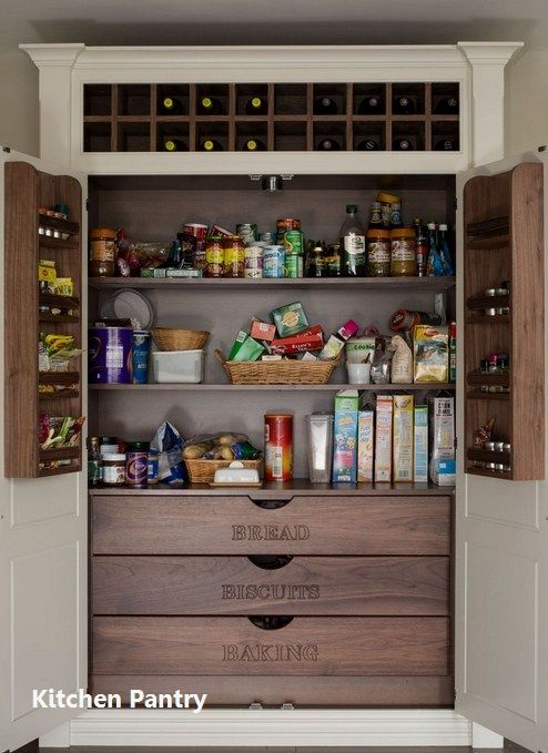 Kitchen Pantry Cabinets In 2020 Diy Pantry Cabinet Pantry Design Built In Pantry