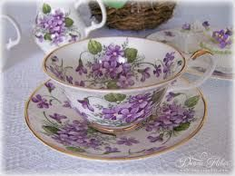 Oh my fav!  I love violets and teapots and tea cups with them are the best!