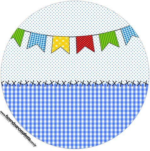 Toppers E Latinhas Kit Festa Junina Azul Jpg 478 482 Festa