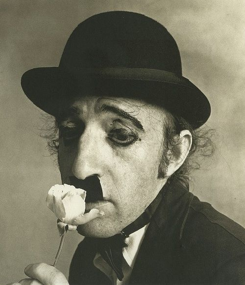 Woody Allen as Charlie Chaplin (photo by Irving Penn, 1972 (: