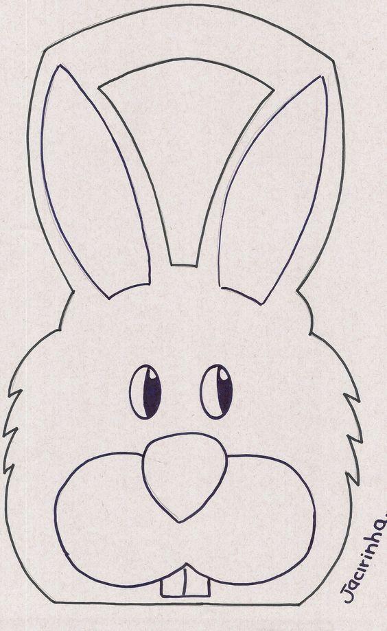 molde sacola coelho