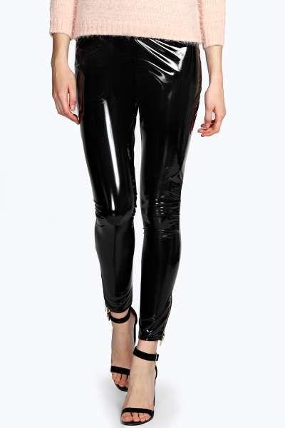Monica Ankle Zip Leggings at boohoo.com