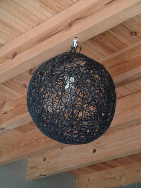 DIY pendant string lamp. Home made and proud of it!