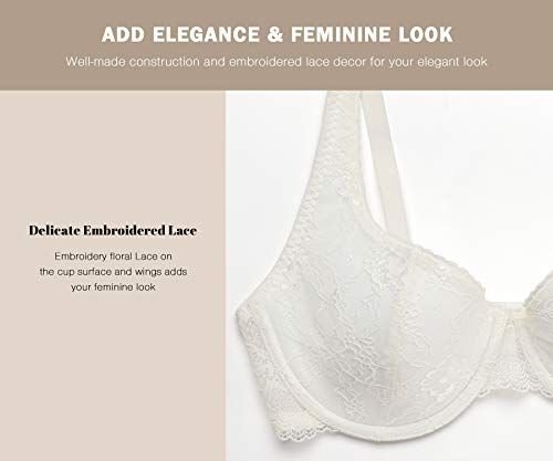 MELENECA Womens Strapless Unlined Multiway for Large Bust Minimizer Underwire Bra