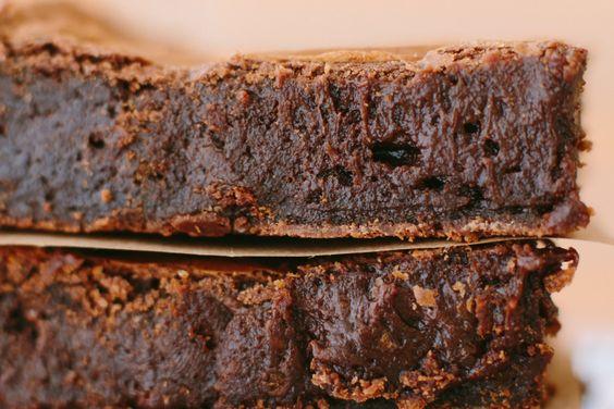 Brownie - Testado e aprovado. Adorei e fiz só com chocolate 1/2 amargo mesmo (não tinha só amargo). Vou experimentar colocar castanhas ou nozes.: