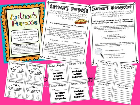 Author's Purpose and Point of View...freebie