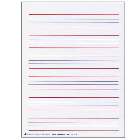... Lined Handwriting Paper Printable red and blue lined handwriting paper