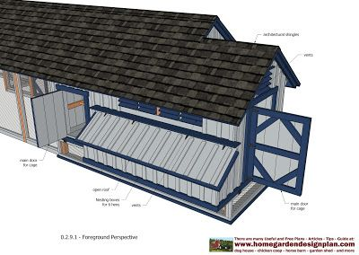 home garden plans: L200 - Large Chicken Coop Plans - How to Build a Chicken Coop - (Multifunction & Full Options - Free Chicken Coop Plans)
