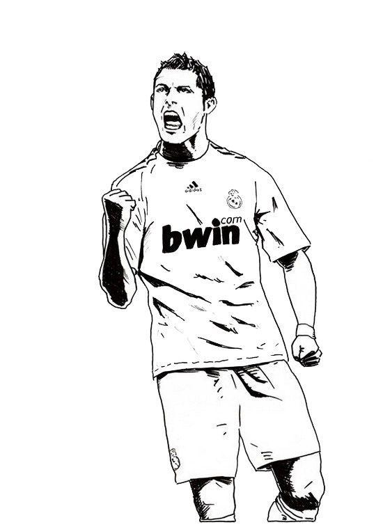 Cristiano Ronaldo Real Madrid Coloring Soccer Player Sheet Soccer Players Cristiano Ronaldo Ronaldo Real Madrid