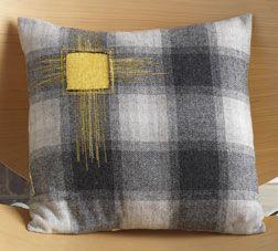 Reverse Appliqué Pillow by Kevin Kosbab