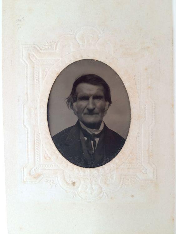 Vintage portrait  tintype of Dr. Hiram by AnnCestryandCompany