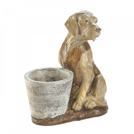Detalles acerca de golden retriever planta soporte maceta perro ...
