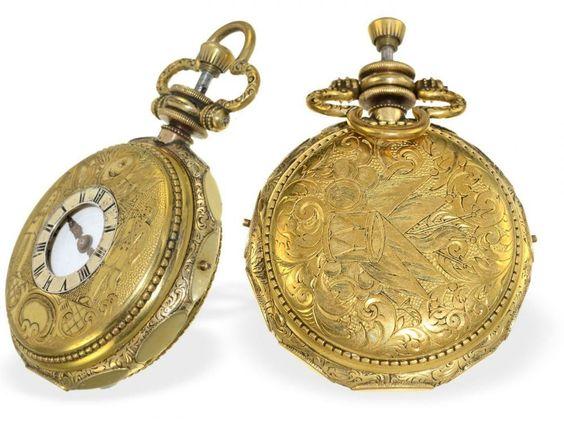 Taschenuhr: außergewöhnliche, sehr seltene Offiziers-Repetier-Taschenuhr für den türkischen Mark