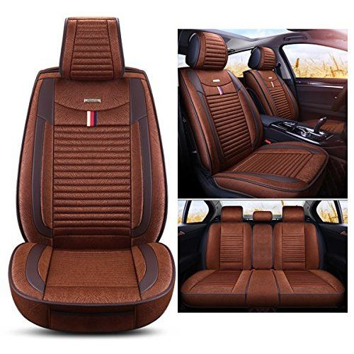 Inch Empire Car Seat Cushion Full Set Cloth Universal Fit Front And Back Leather Edges Breathable Anti Fouling Car Seat Cushion Clean Car Seats Cars And Coffee